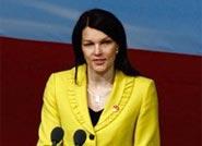 芬兰总理玛丽·基维涅米做主旨演讲