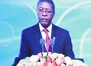 莱索托王国首相帕卡利塔·莫西西利发表演讲