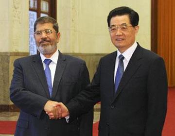 Hu Jintao et Morsi ont tenu une conférence