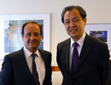 François Hollande rencontre l'ambassadeur de Chine en France