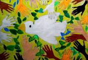 吴伊桐 《伸出双手,保卫和平》