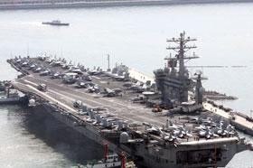 미국 항모전단 홍해 진입