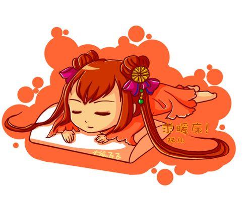 动漫趣味手绘床