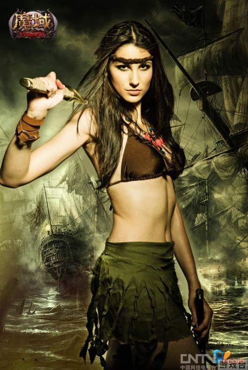 《魔域》海盗装美女