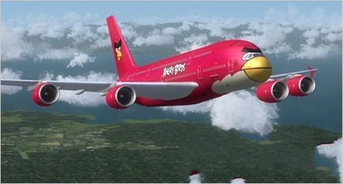 愤怒的小鸟竟然登陆民航飞机!全身被涂鸦