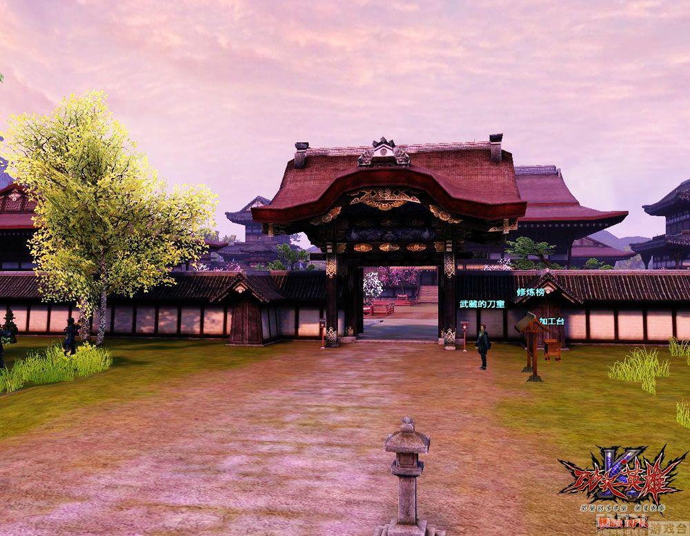 背景图片古代日本建筑