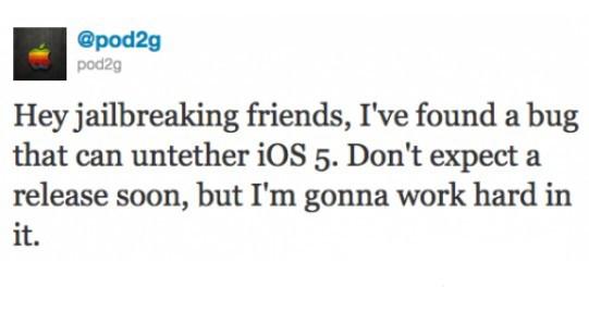 越狱小组发现苹果iOS5完美越狱漏洞