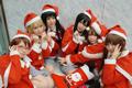 《轻音少女》圣诞装全家福Cosplay
