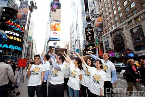 巨人《征途2S》广告登陆纽约时代广场引发圈内人士热议
