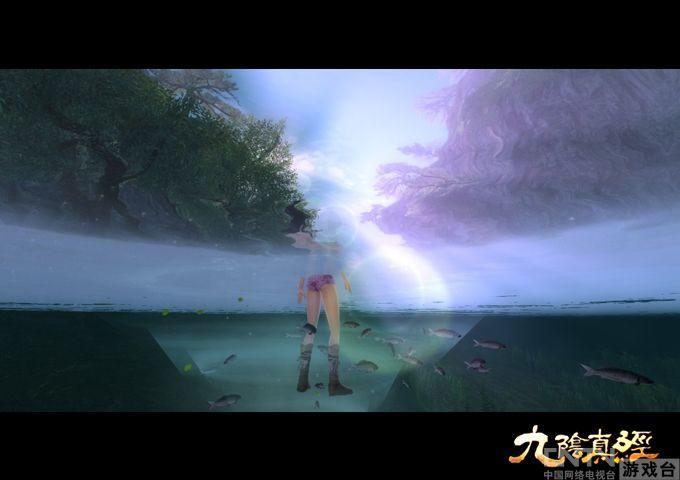 《九阴真经》白色泳装再现极度沉鱼之美_厂蕾丝美女美女吊带图片