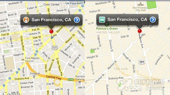谷歌地图vs苹果地图 谷歌略胜一筹