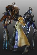 《最终幻想13》冰雪姐妹合体摩托模型