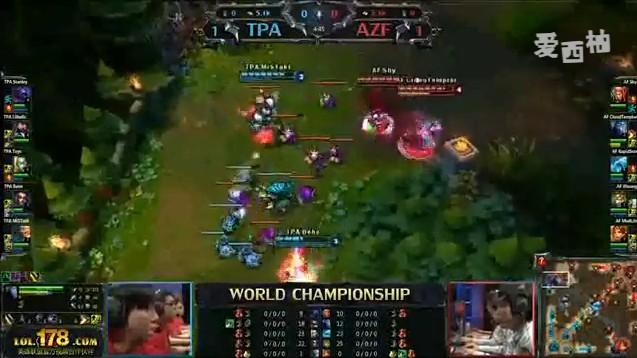 英雄联盟S2世界总决赛决赛 TPA VS AZF第三场