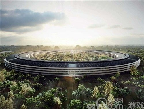苹果公司总部最新设计修订 效果图美轮美奂