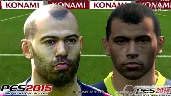 《实况足球2015》球员面部PK:提升明显_产业