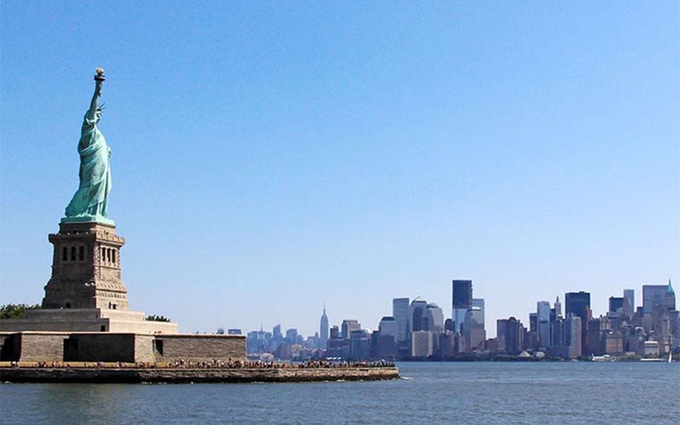美国纽约 自由女神像