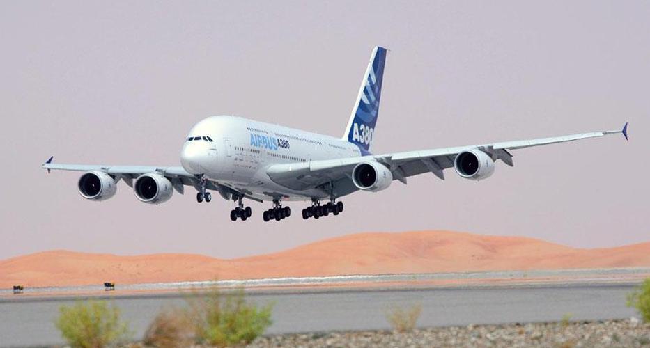 a380飞机降落