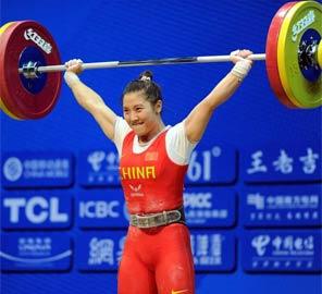 <font color=red><b>破纪录:</b></font>女举53公斤级 李萍破抓举世界纪录