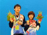 韩国棋手李瑟娥、朴廷桓夺得广州亚运会围棋男女混合双人赛项目的金牌