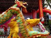 南安梅山镇蓉中村文化节上舞龙