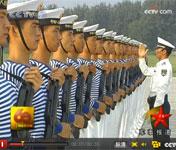 水兵组成白色风景线