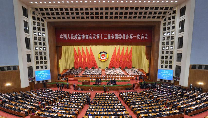 全国政协十二届一次会议开幕 贾庆林作报告