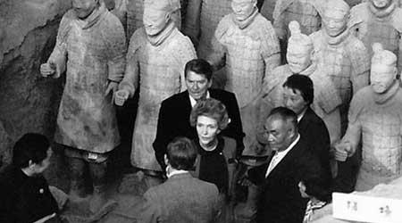 美国前总统里根访华
