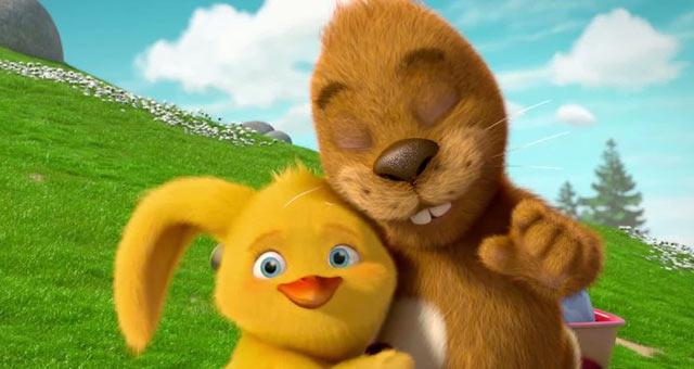[绘本耳朵]学画耳朵的兔子和两只宝宝的故事小鸡没有小海豚图片