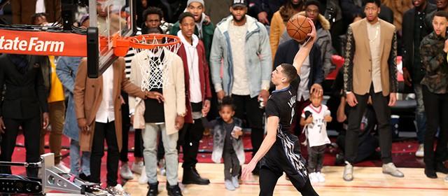 NBA扣篮大赛 拉文两轮加赛力压戈登卫冕