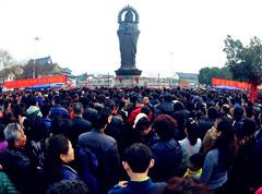 延时记录武汉50万市民归元寺上香