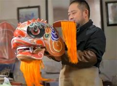 """纸扎老艺人最有年味的""""狮子头"""""""