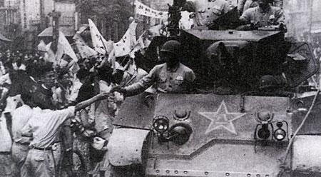 上海宣告解放