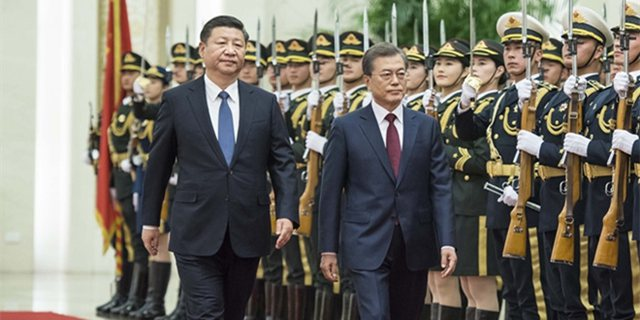 习近平举行仪式欢迎韩国总统访华
