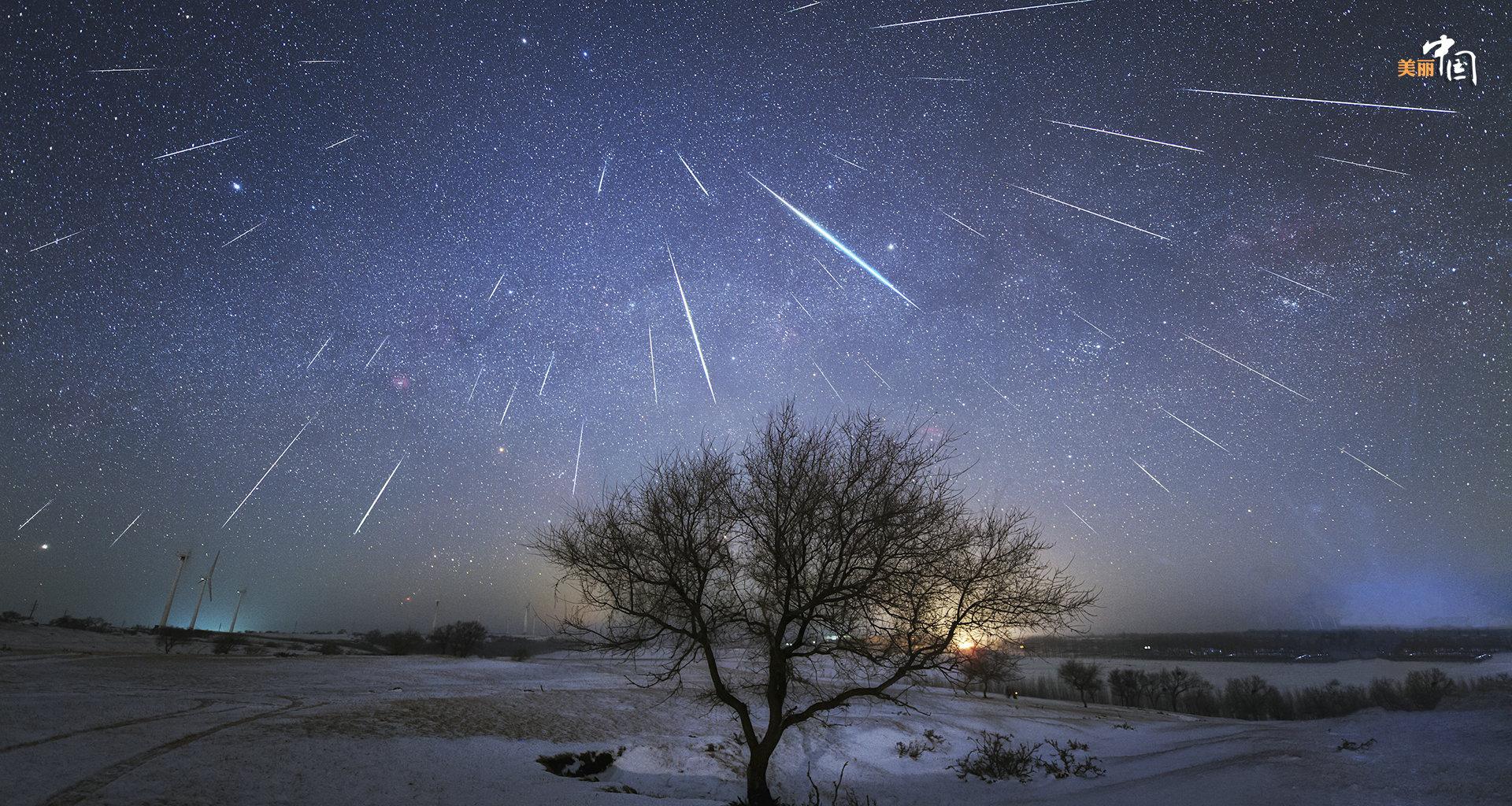 夜空星星闪烁素材