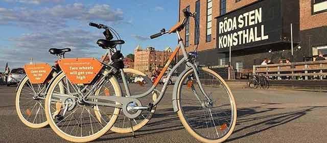 中国共享单车现身美国 骑行半小时1美元