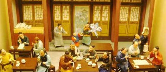 老北京南北城书茶馆 抖个包袱扣住客