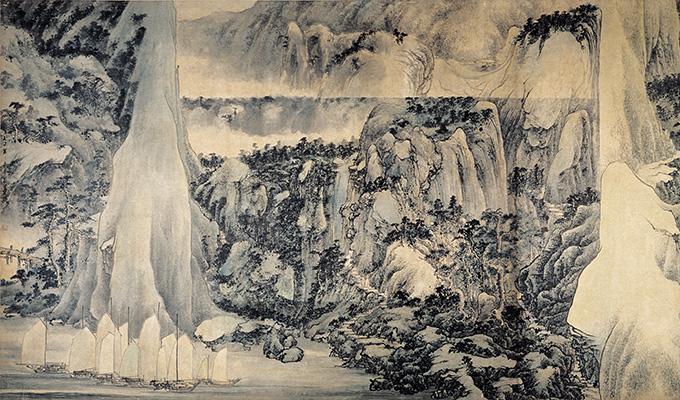 """香港""""新水墨运动""""艺术家吕寿琨作品亮相中国美术馆"""