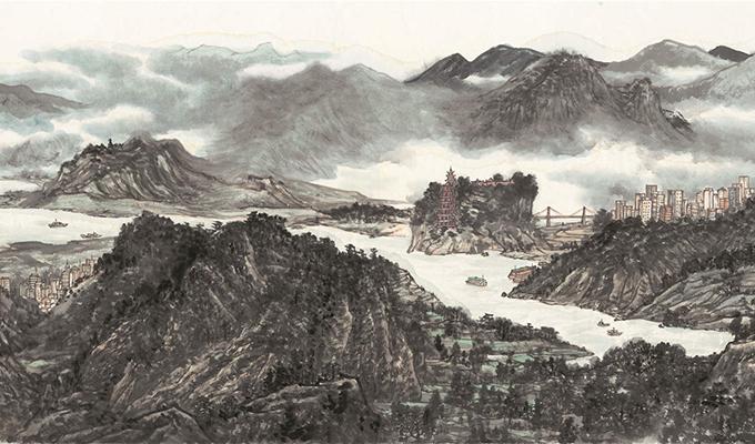 200米巨幅长卷《长江万里图》为祖国河山立传