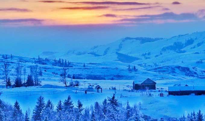 冬游新疆白哈巴 看中国最美雪村