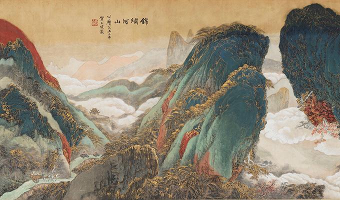 """中国美术馆新年大展 名家荟萃""""美在河山"""""""