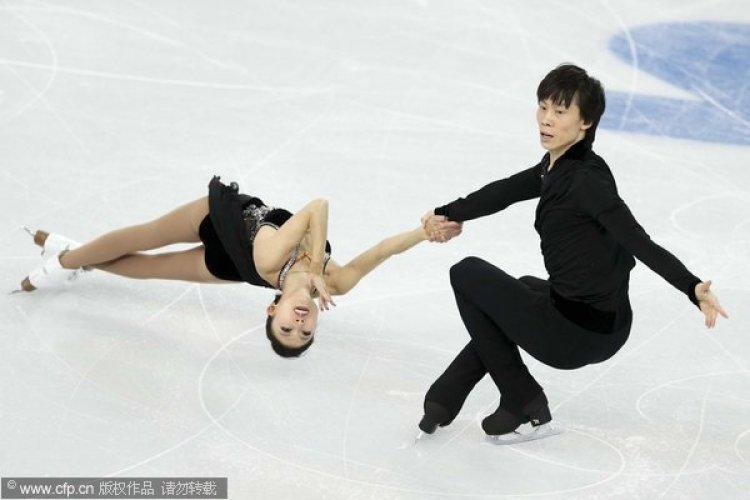 [高清组图]双人短节目庞清佟健第四 俄罗斯榜首