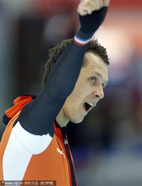[高清组图]速度滑冰男子1000米荷兰夺金摘铜
