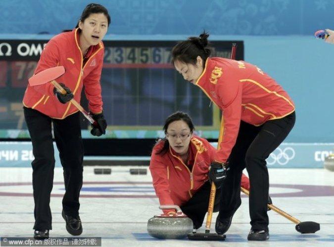 索契冬奥会女子冰壶循环赛第8轮:中国7-6瑞典