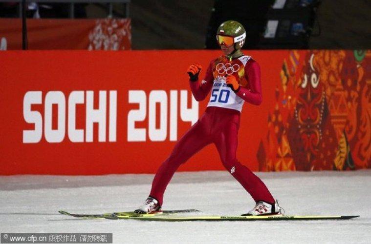 [高清组图]跳台滑雪大台男子单人 波兰选手夺冠