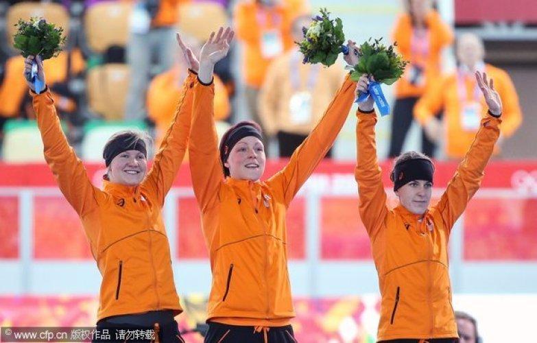 [高清组图]速滑女子1500米荷兰实力超群揽前4