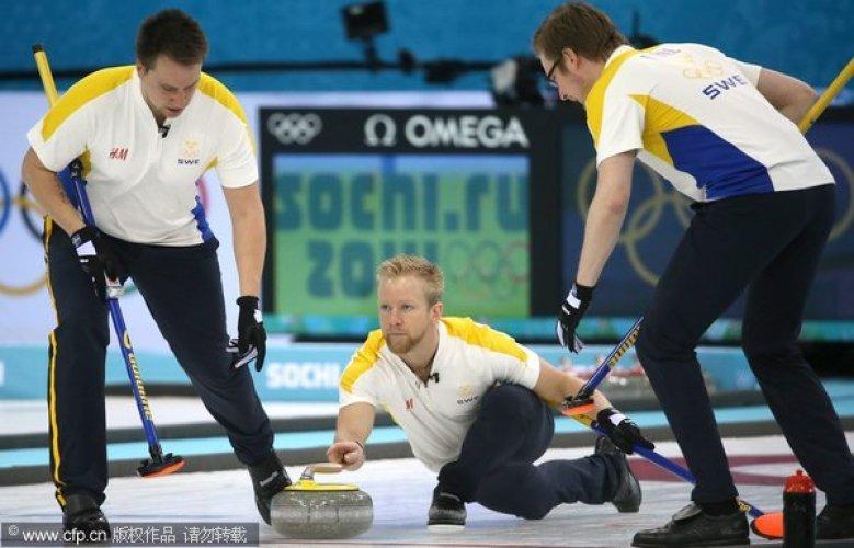 [高清组图]男子冰壶3、4名决赛:中国4-6瑞典