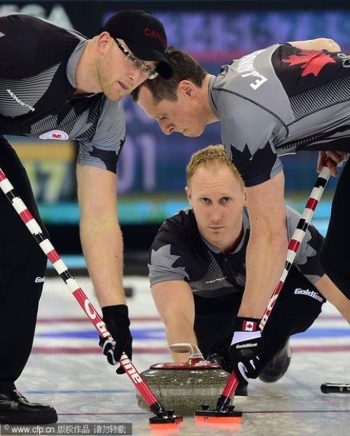 [高清组图]男子冰壶加拿大9-3英国 冬奥会3连冠