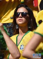 [高清组图]内马尔女友现身 观战巴西智利淘汰赛