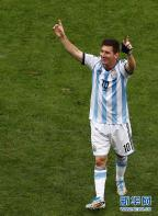 [高清组图]阿根廷队成功晋级 队员庆祝精彩瞬间