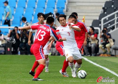 [高清组图]亚运会-全场被动 国奥0-3不敌朝鲜